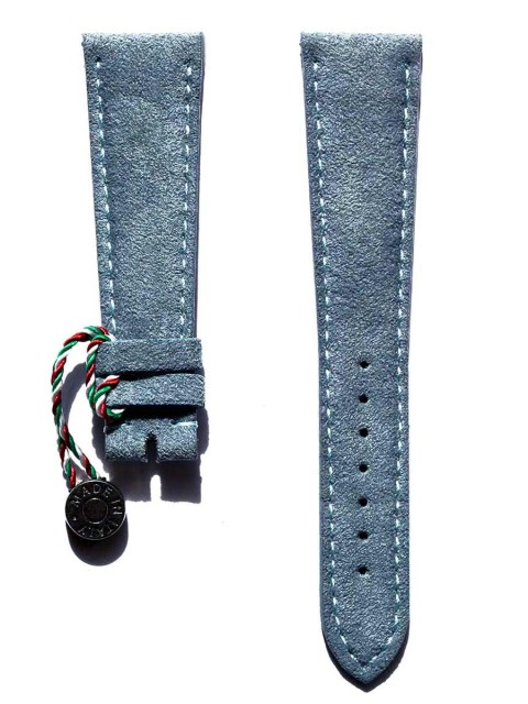Vegan Italian Alcantara watch strap for Patek & General style timepieces handmade Italy Visconti Milano