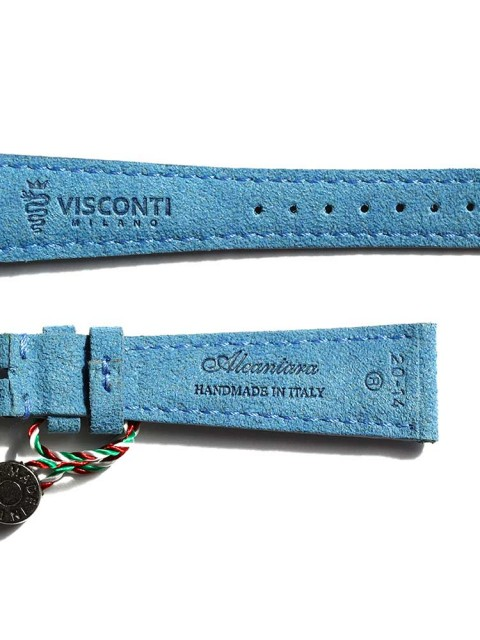 Vegan Italian Alcantara watch strap for Patek & General style timepieces handmade Italy Visconti Milano non leather