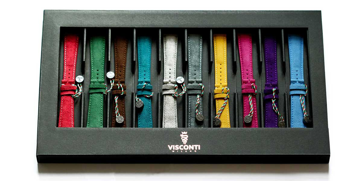 visconti milano alcantara watch straps collection made in italy handcrafted