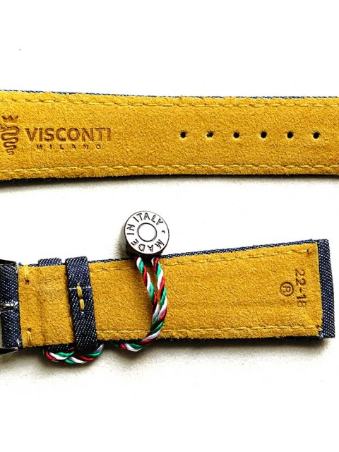 Watch strap yellow denim jeans visconti milano patek philippe rolex day date general style