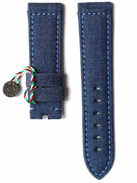 Panerai watch strap replacement in Blue Jeans Denim