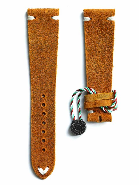 Mohawk Vintage leather watch strap slim coach ocher