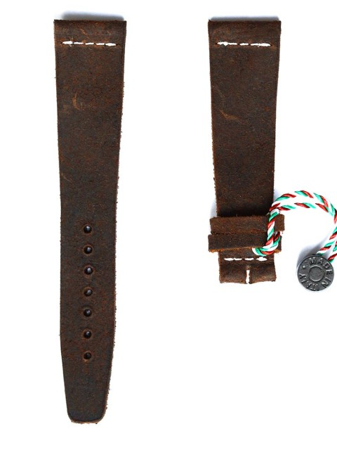 Mohawk Vintage leather watch strap slim snuff