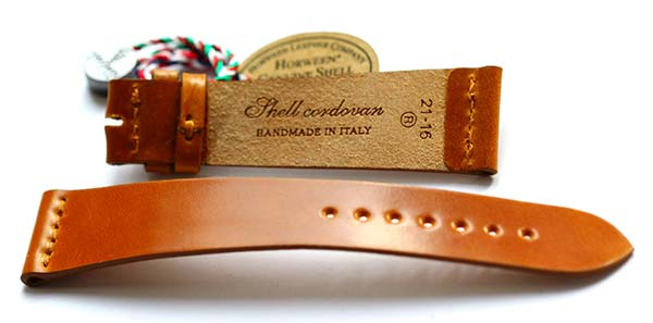 Visconti Milano made in Italy honey utra slim shell cordovan leather watch strap 20mm 19mm 21mm 18mm