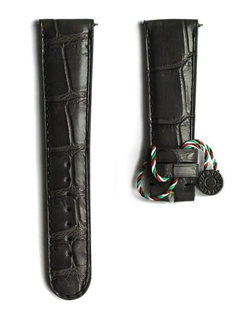 Alligator black leather bespoke watch strap for lange e sohne lange1