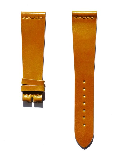 honey utra slim shell cordovan leather watch strap 20mm