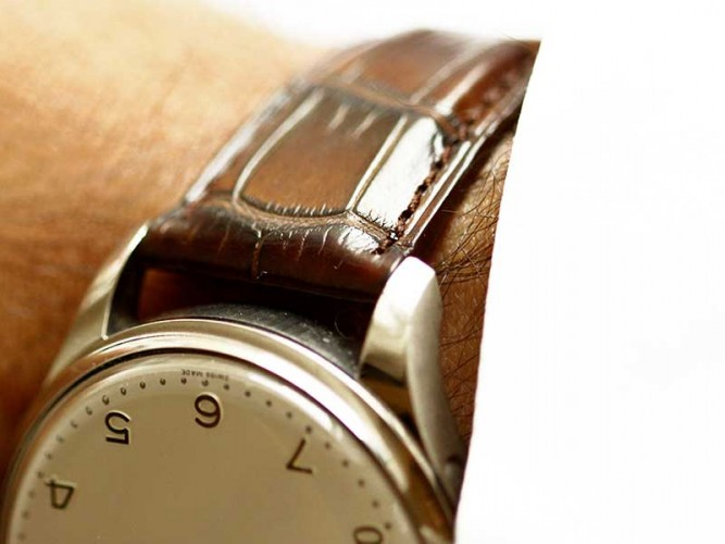 IWC bespoke wrist watch strap replacement made Italy Visconti Milano