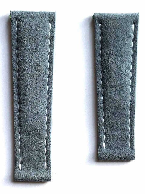 rolex daytona alcantara italian wrist watch replacement strap 20mm muddy blue