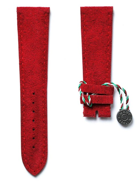 Ruby Red Alcantara watch strap Patek style replacement