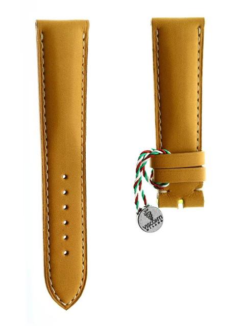 beige calf leather visconti milano chopard style 21mm