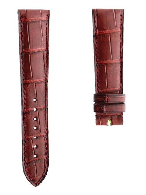 Bordeaux Alligator leather watch strap Visconti Milano 21mm custom made