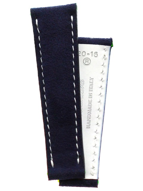 navy blue Green Blue Alcantara custom strap rolex daytona oyster replacement made italy