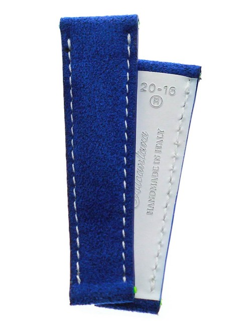 blue infanta Green Blue Alcantara custom strap rolex daytona oyster replacement made italy