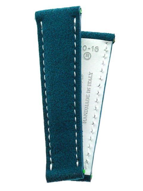 Indigo Bora Bora Green Blue Alcantara custom strap rolex daytona oyster replacement made italy