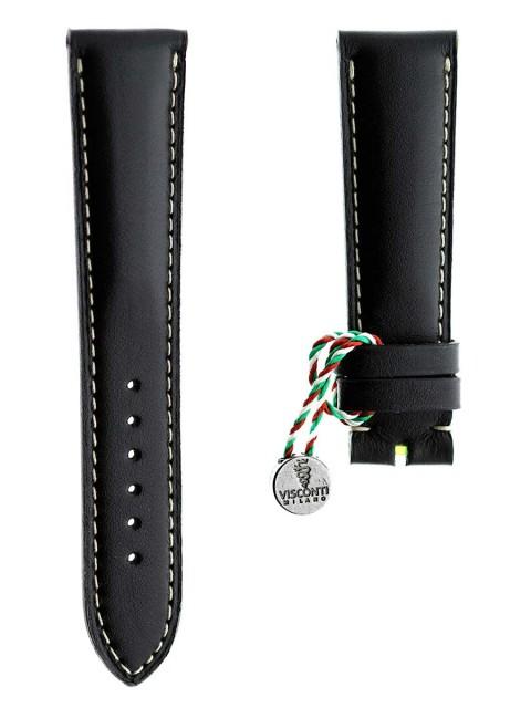 black calf leather visconti milano chopard style 21mm