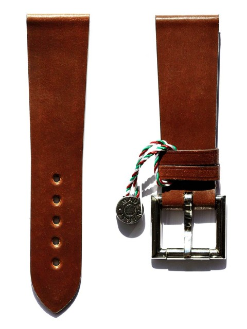 2-brown-shell-cordovan-black-24mm-watch-strap-visconti-milano-fixed-buckle