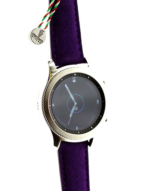 Samsung Gear S3 wrist watch strap band alcantara violet made italy visconti milano custom replacement