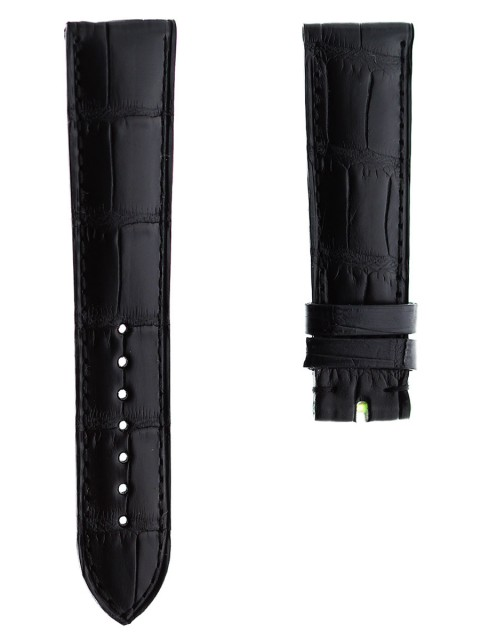 Black matte alligator watch strap band 21mm visconti milano made italy