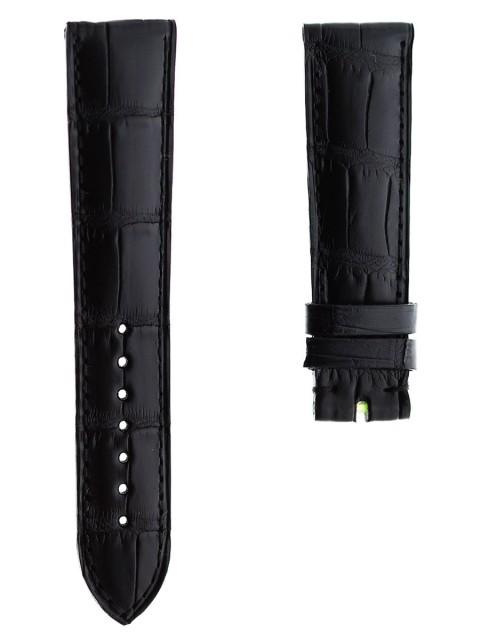 Black matte alligator watch strap band 21mm visconti milano made italy