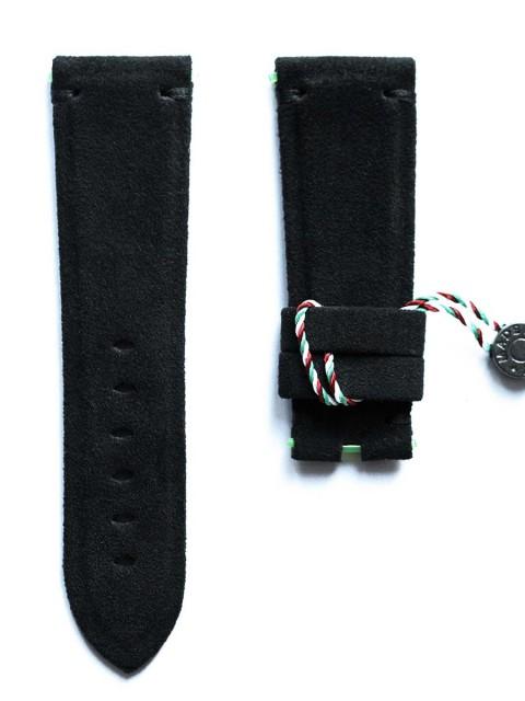 PAN 384 panerai bespoke alcantara strap black alcantara 26mm