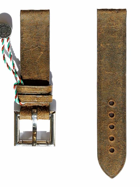 Mohawk Vintage leather replacement fixed buckle strap 20mm generic style