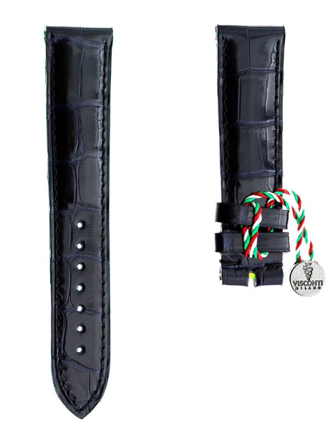 alligator watch strap by visconti milano made in italy