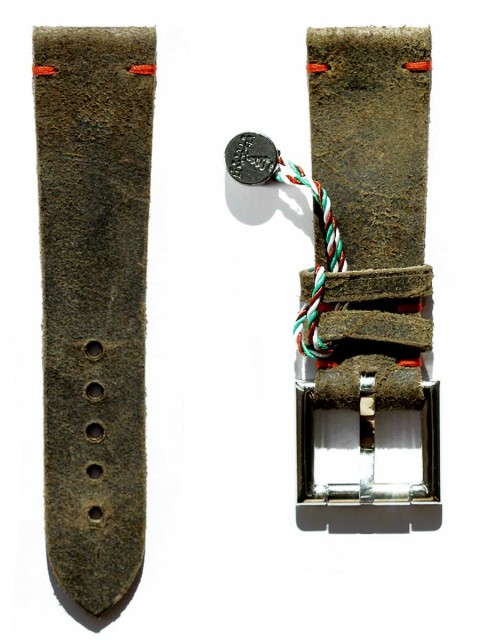 Mohawk Vintage leather replacement fixed buckle strap 24mm generic style