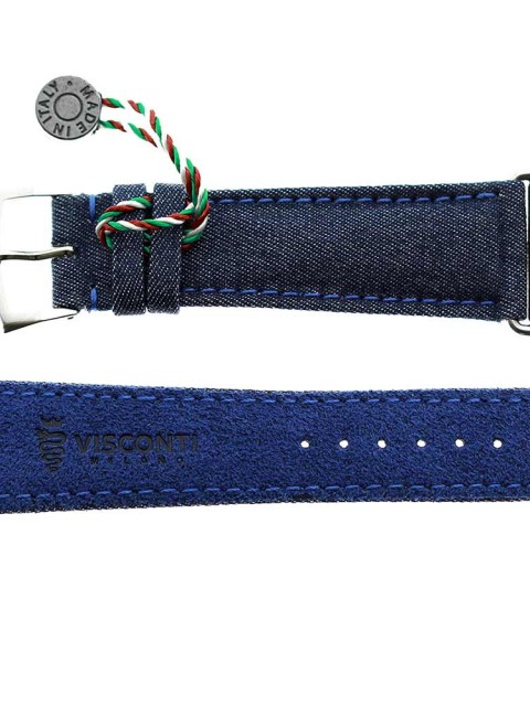 Blue Ocean Selected Denim custom watch strap apple watch 28mm series 1 &2 selvedge