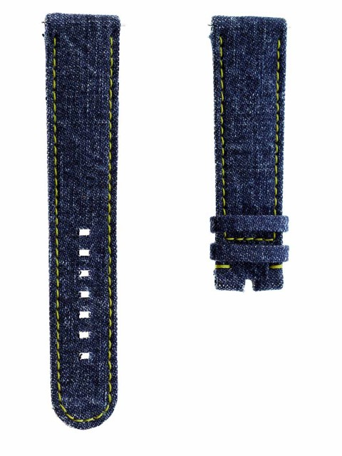 samsung gear s3 smart watch band strap japanese denim 22mm made italy alcantara lining