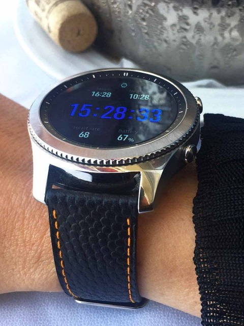 black rugby leather watch strap band replacement samsung gear s3i 22mm made italy visconti milano orange alcantara lining