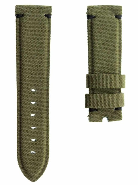 Canvas color Army watch strap 24mm panerai style replacement made italy