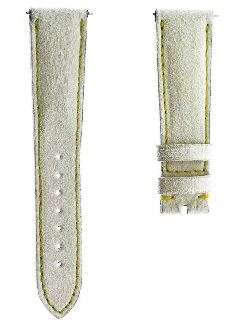 vanilla white watch strap by order alcantara made italy custom rolex day date 20mm