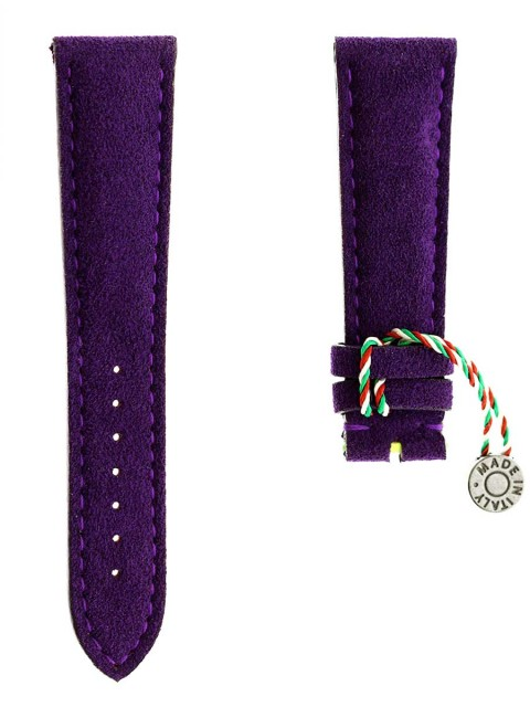 violet alcantara watch strap custom made italy replacement
