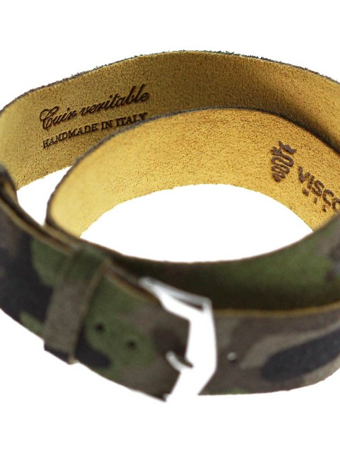 camouflage suede watch wrist band made italy custom 18mm