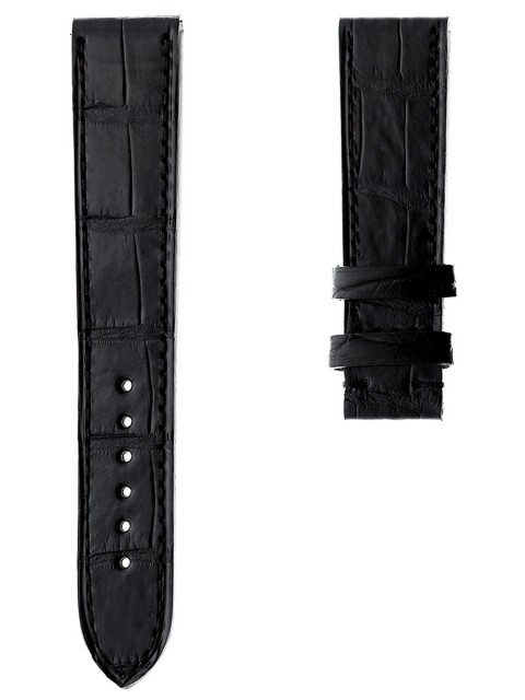 alligator leather 19mm replacement watch strap perrelet style made italy