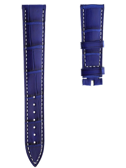 ulysse nardin replacement watch strap19mm lapis blue alligator leather made italy visconti milano