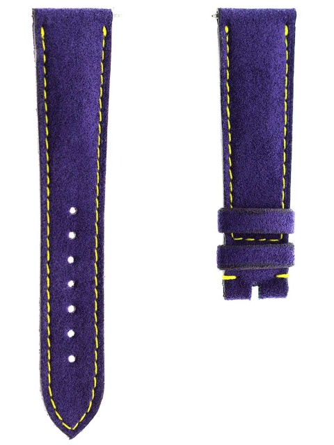 ametist violet watch strap alcantara made italy custom rolex daydate oyster dayjust 20mm