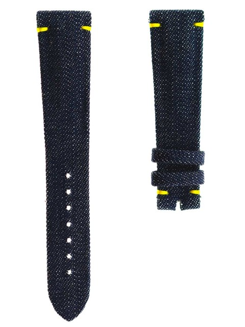 japanese denim kurabo watch strap texture textile replacement bespoke custom made italy visconti milano patel philippe style 20mm